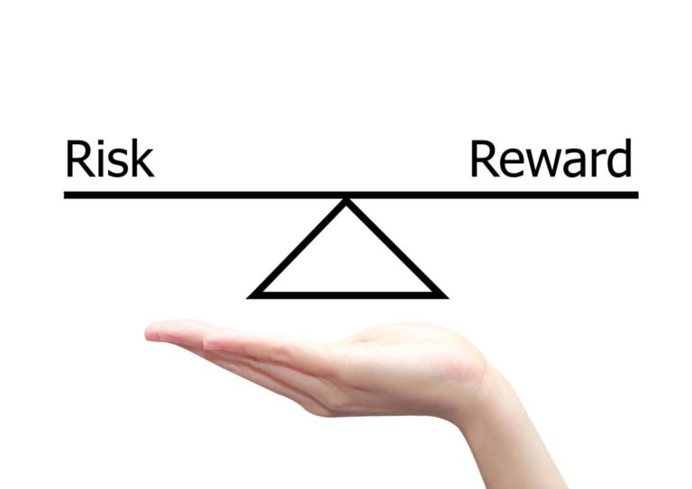 balanced risk reward graphic to show the cost of machine learning works